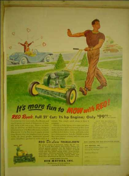 REO Motors Lawnmower AND Pabst Beer Ben Hogan (1950)