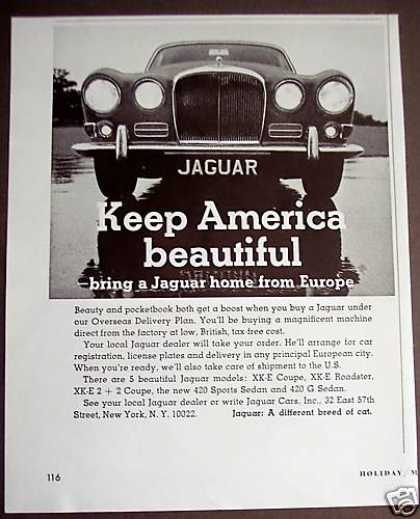 Bring a Jaguar Home From Europe Car Photo (1967)
