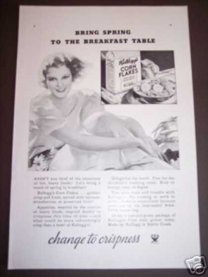 30's Kellogg's Corn Flakes Girl Spring Breakfast