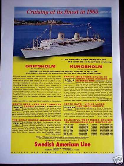 Swedish American Line Cruise Ship (1964)
