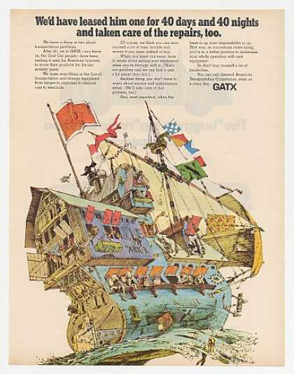 Noah's Ark art GATX General American Transport (1969)