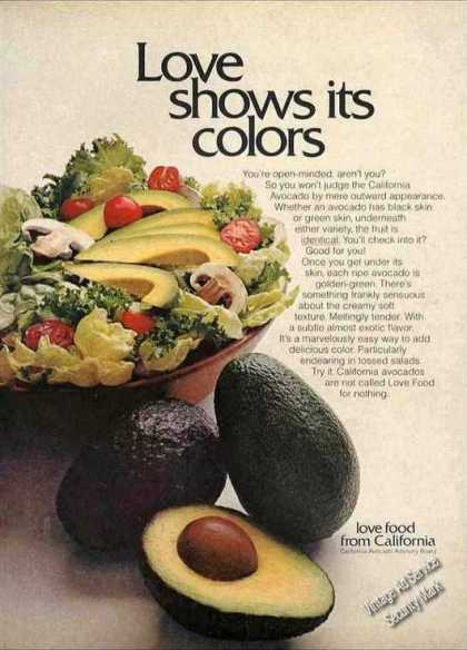 "Avocados ""Love Food From California"" Impressive (1971)"