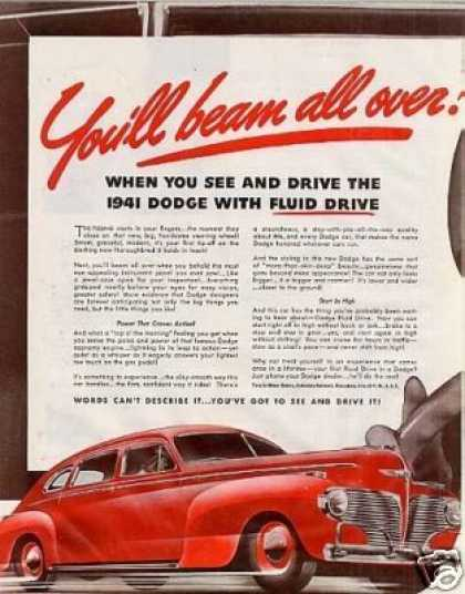 Dodge Car Color Ad 2 Page (1941)