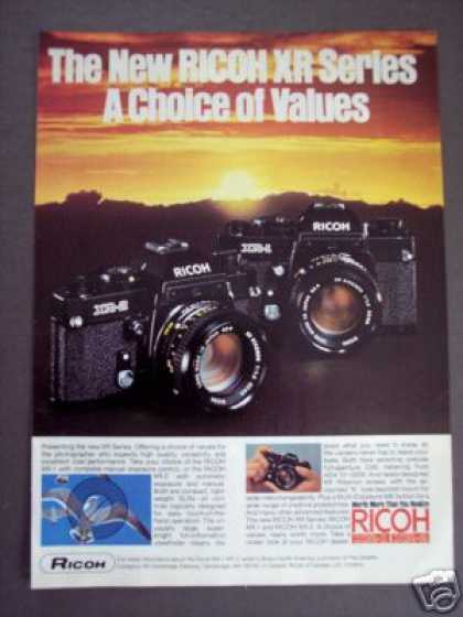 Ricoh Xr-1 & Xr-2 35mm Slr Camera Photography (1978)