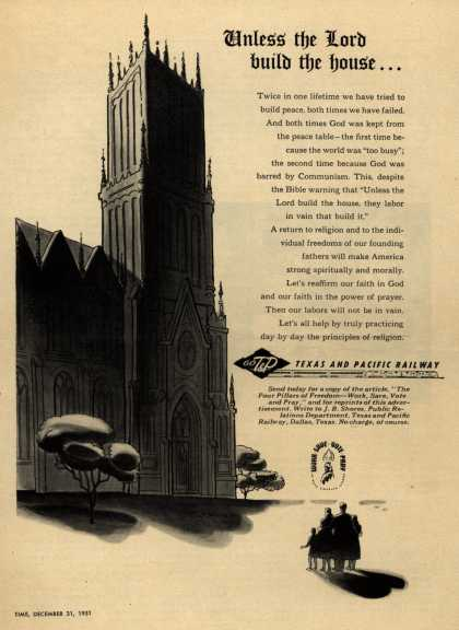 Texas and Pacific Railway's Return to Religion – Unless the Lord build the house... (1951)