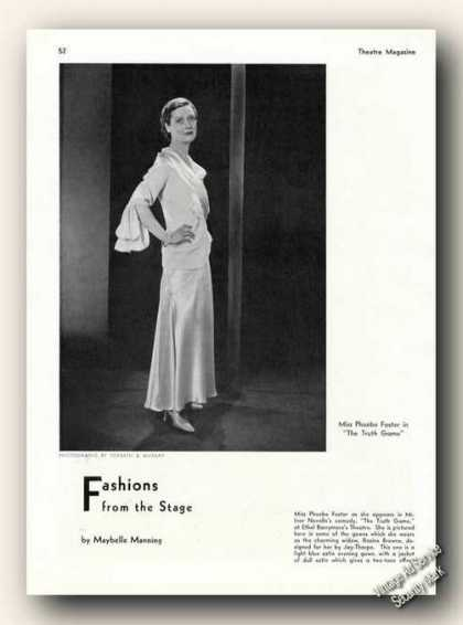 Phoebe Foster In the Truth Game Photo Feature (1931)