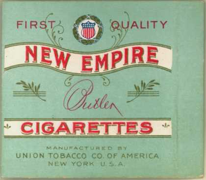 Union Tobacco Co. of America's Butler Cigarettes – New Empire