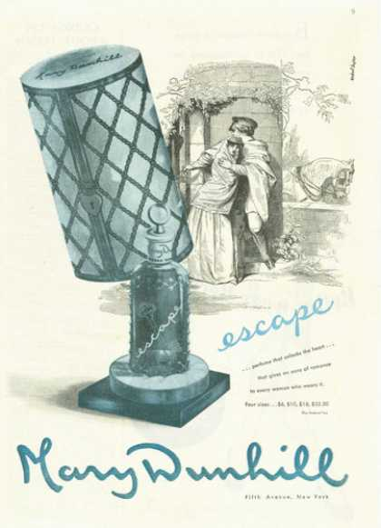 Mary Dunhill Escape Perfume Bayer Artwork (1945)
