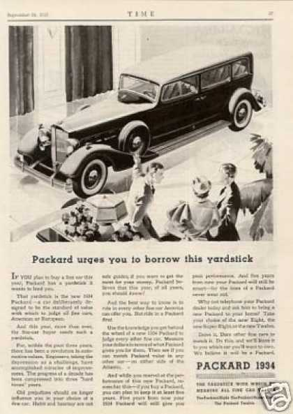 "Packard Car Ad ""Packard Urges You... (1934)"