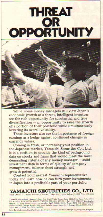 Yamaichi Securities – Threat Or Opportunity (1977)