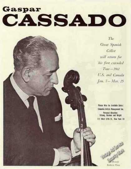 "Gaspar Cassado ""Great Spanish Cellist"" (1960)"