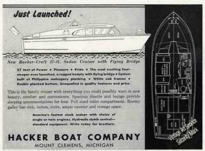 Hacker-craft 27' Sedan Cruiser W/flying Bridge (1956)