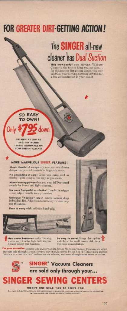 Singer Sewing Center Vacuum Cleaner (1950)