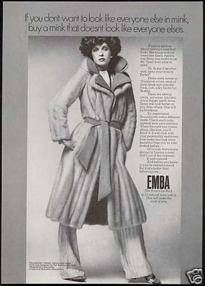 Emba American Mink Fur Pretty Woman (1974)