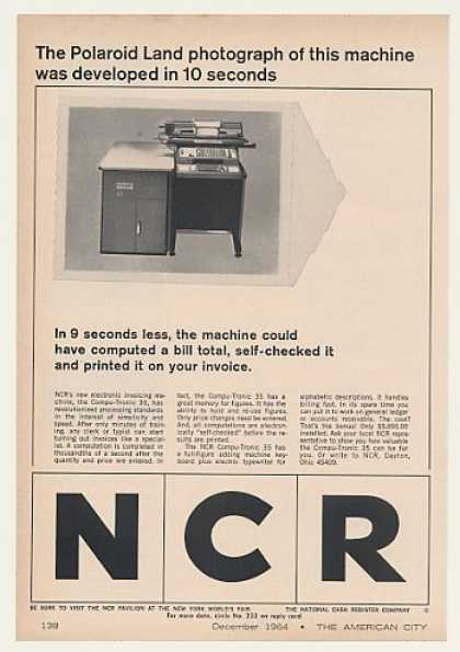 NCR Compu-Tronic 35 Invoicing Machine Polaroid (1964)