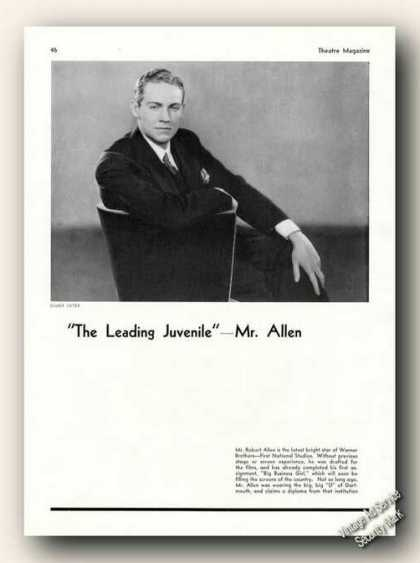 Robert Allen Photo By Elmer Fryer Antique Feature (1931)