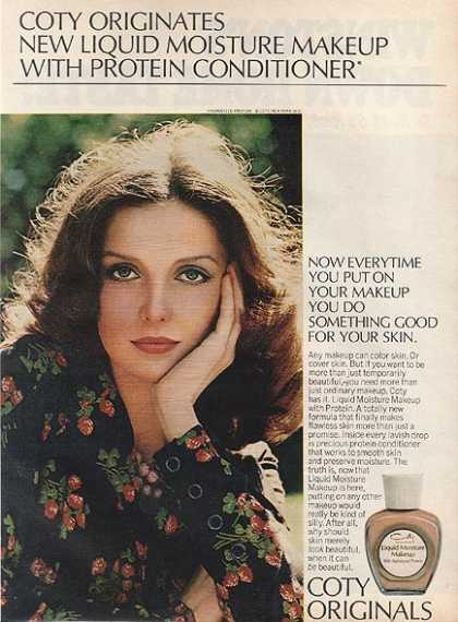 Coty&#8217;s Liquid Moisture Makeup with Protein Conditioner (1972)