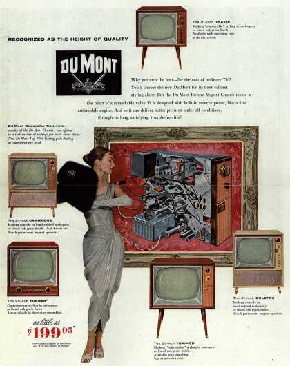 Allen B. DuMont Laboratorie's Television – Recognized As The Height of Quality, DuMont (1956)