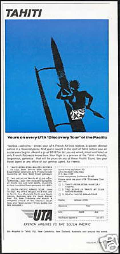 Tahiti Outrigger UTA French Airlines (1967)