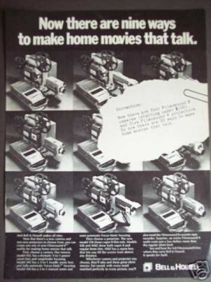 Bell & Howell Filmsound 8 Movie Cameras (1969)