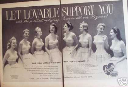 Lovable Bra Sexy 2pg Photo (1956)