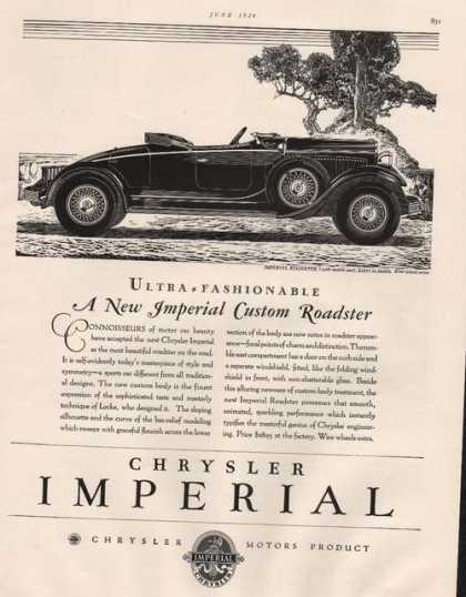 Chrysler Imperial Roadster Car (1929)
