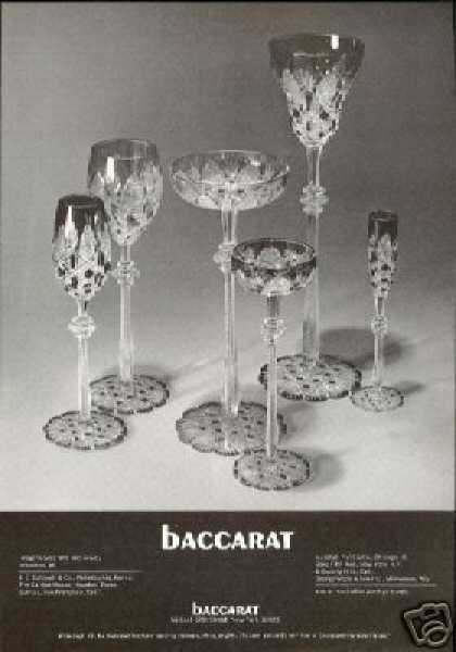 Baccarat Stemware Assorted Glasses Photo (1970)
