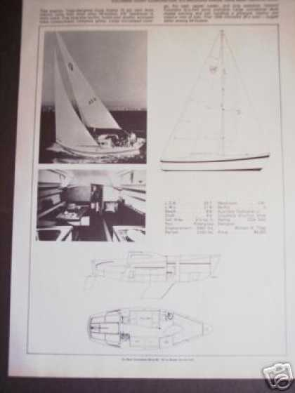 Columbia 26 Mark Ii Sailboat Boat Spec Page (1971)