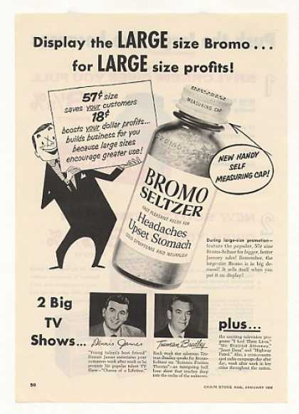 Bromo-Seltzer Large Bottle (1956)