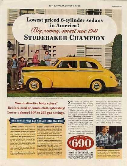 Studebaker Champion Custom Club Sedan (1941)
