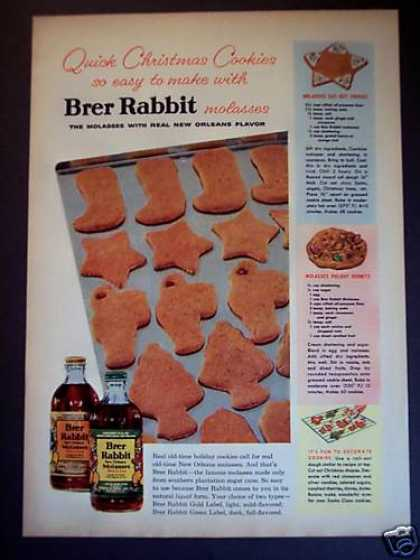 Brer Rabbit New Orleans Molasses Cookie Recipe (1955)
