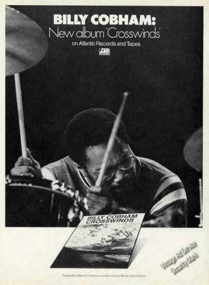 "Billy Cobham Photo ""Crosswinds"" Album Promo (1974)"