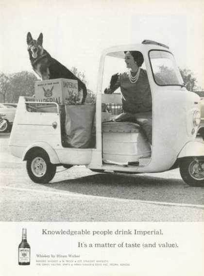 Imperial Hiram Walker Whisky Ad Scooter (1961)