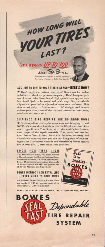 Bowes Seal Fast Tire Repair System (1942)