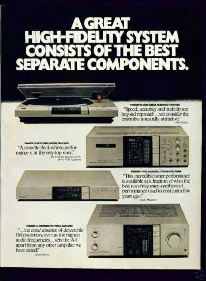 Pioneer High Fidelity System Components 2 Page (1982)