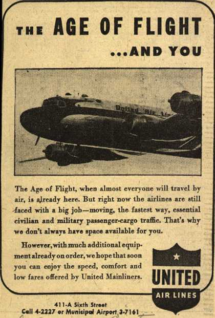 United Air Line's Mainliners – The Age of Flight... and you (1945)