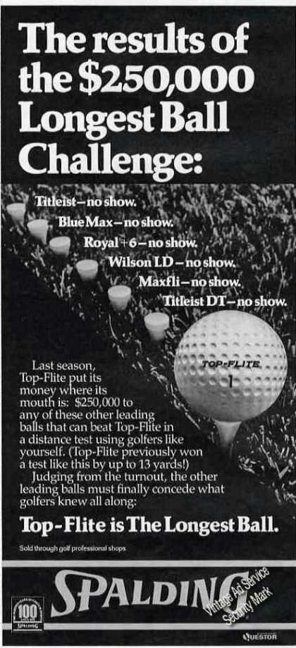 Spalding Top-flite Golf Ball $250,000 Challenge (1976)