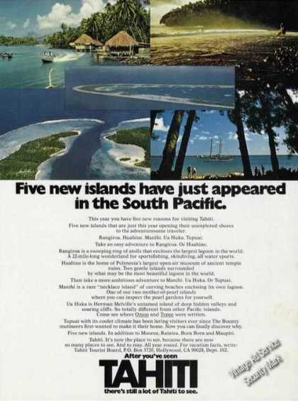 Tahiti 5 New Islands In South Pacific Travel (1973)