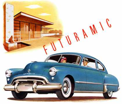 Futuramic Oldsmobile Westbury, Long Island, home by Edward Stone (1948)