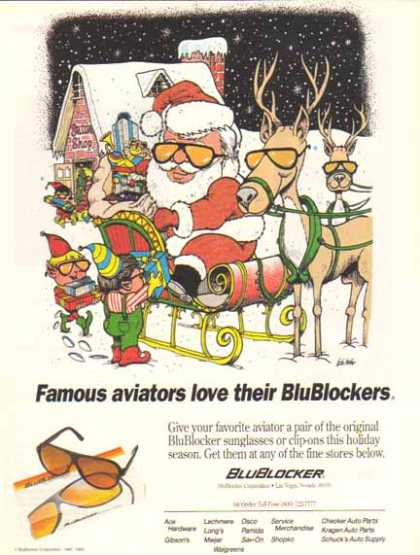 BluBlocker Sunglasses – Santa Claus (1993)
