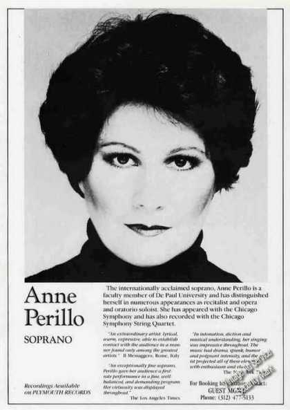 Anne Perillo Photo Opera/recitals/ (1986)