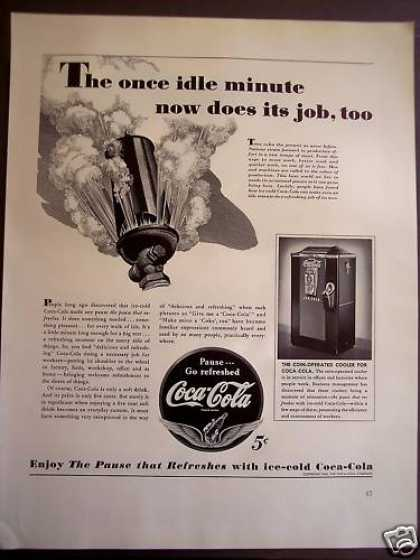 Coca-cola Coke Soda 5cent Soft Drink (1941)