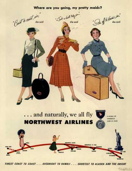 Northwest Airlines – Where are you going, my pretty maids? (1957)