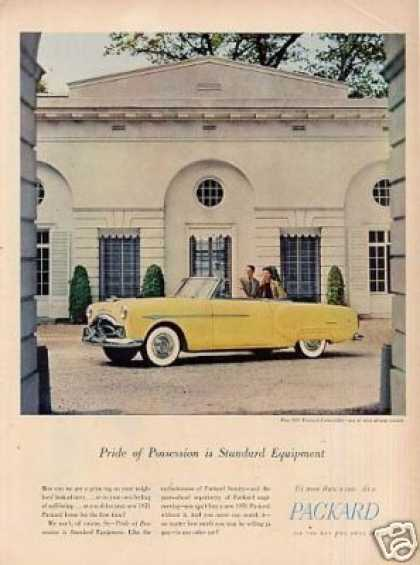 "Packard Convertible Car Ad ""Pride of Possession... (1951)"