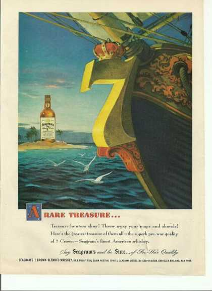 Rare Treasure Seagrams 7 Whisky (1948)