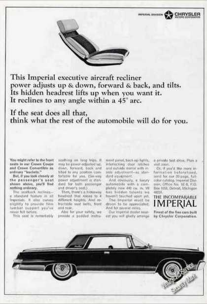 "Chrysler Imperial ""Executive Aircraft Recliner"" (1966)"