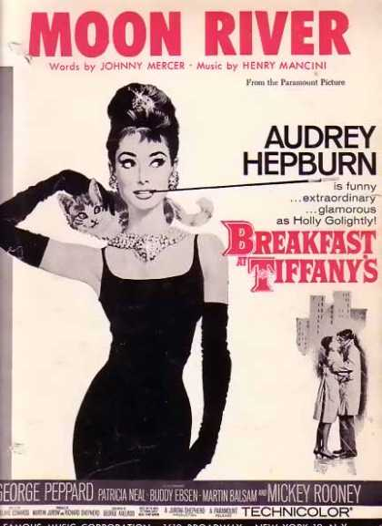 Moon River – Audrey Hepburn Movie Sheet Music (1961)