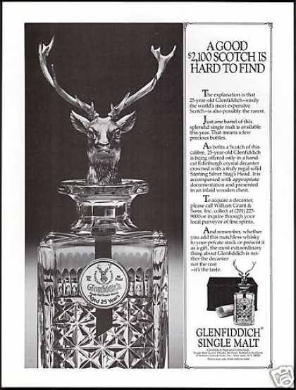 Glenfiddich Malt Scotch Whisky Bottle Photo (1983)