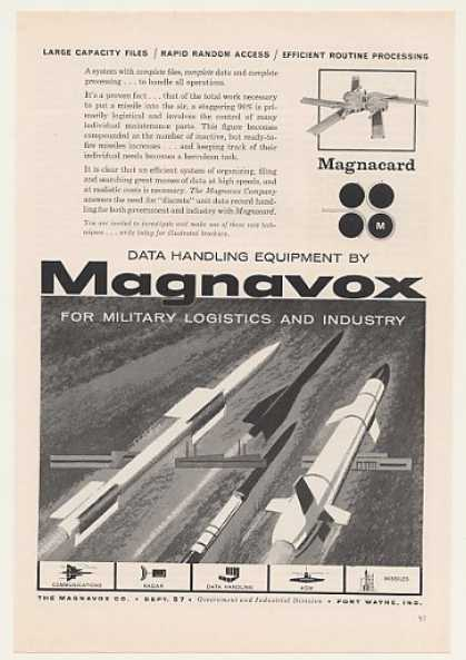 Magnavox Magnacard Computer Military Missiles (1959)