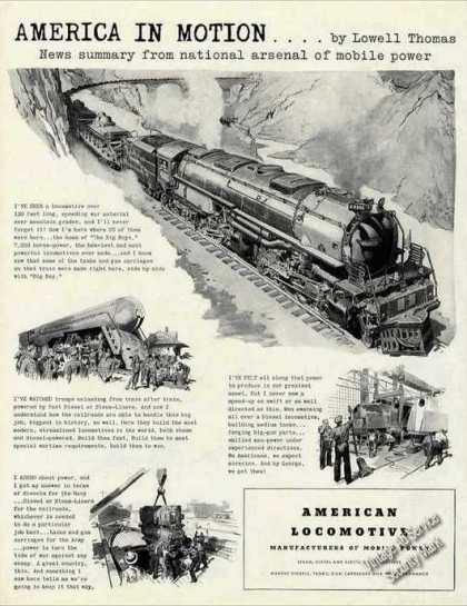 America In Motion By Lowell Thomas Locomotive (1942)